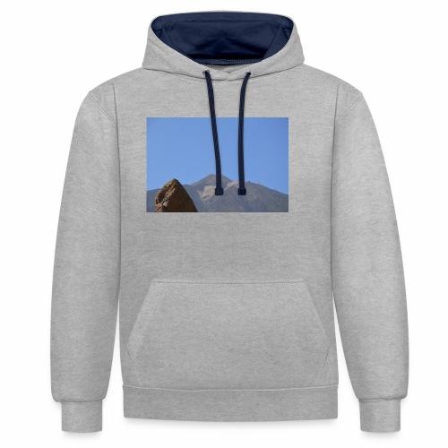 Teide - Teneriffa - Kontrast-Hoodie
