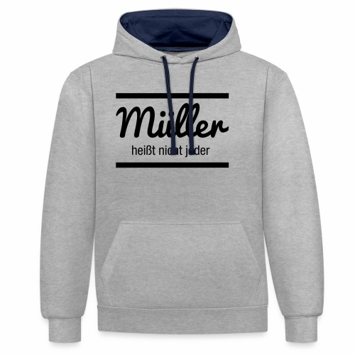 Müller Namensschild - Kontrast-Hoodie