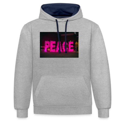 paz - Sudadera con capucha en contraste