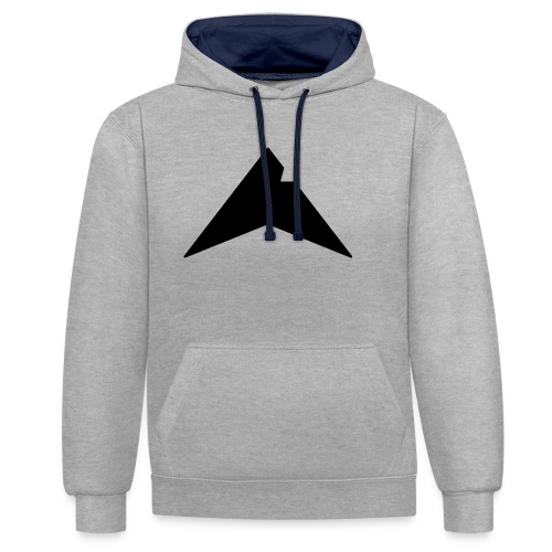 UP-CLAN Logo - Contrast hoodie