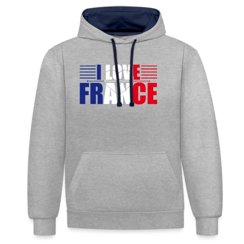 love france - Sweat-shirt contraste