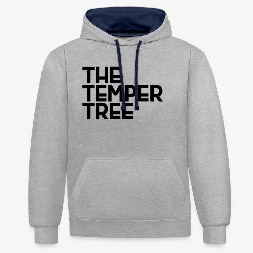 The Temper Tree Schriftzug - Kontrast-Hoodie