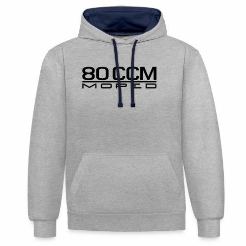 80 ccm Moped Emblem - Contrast Colour Hoodie