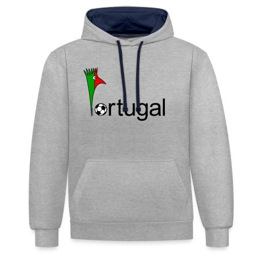 Galoloco Portugal 1 - Kontrast-Hoodie