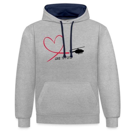 love_to_fly_jet_ranger - Kontrast-Hoodie