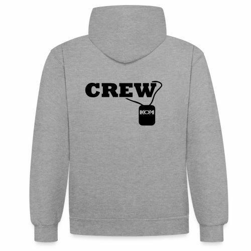 KON - Crew - Kontrast-Hoodie
