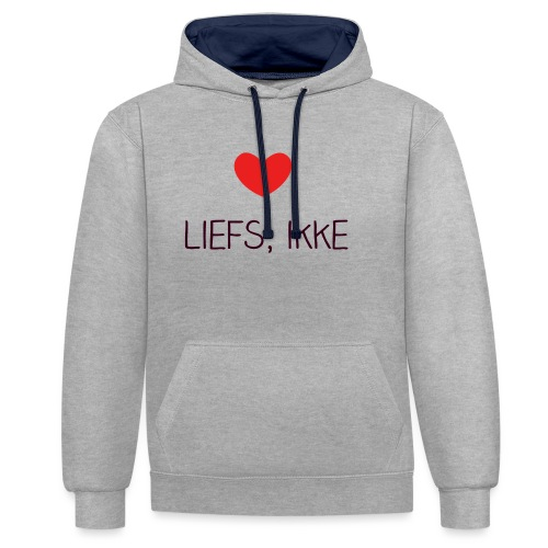 Liefs, ikke - Contrast hoodie