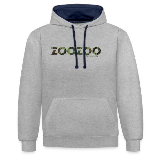 ZooZoo Camoflague Green - Kontrast-Hoodie