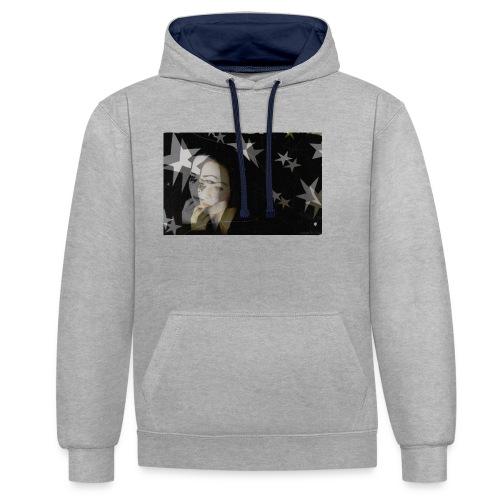Starsister Blacklong Shirt - Kontrast-Hoodie