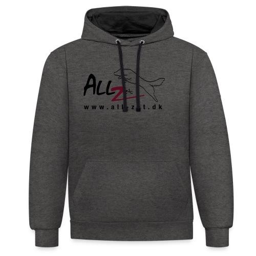 All Zet Logo - Kontrast-hættetrøje
