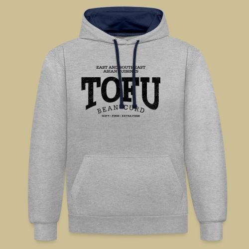 Tofu (black oldstyle) - Kontrast-Hoodie