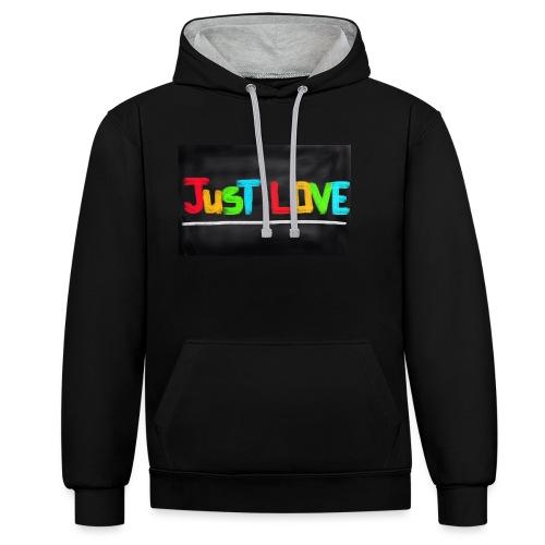 Just love tasse - Sweat-shirt contraste
