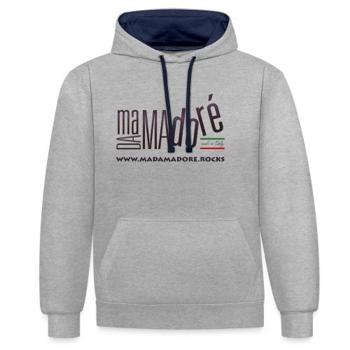T-Shirt - Donna - Logo Standard + Sito - Felpa con cappuccio bicromatica