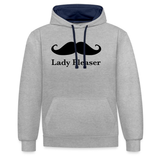 Lady Pleaser T-Shirt in Green - Contrast Colour Hoodie