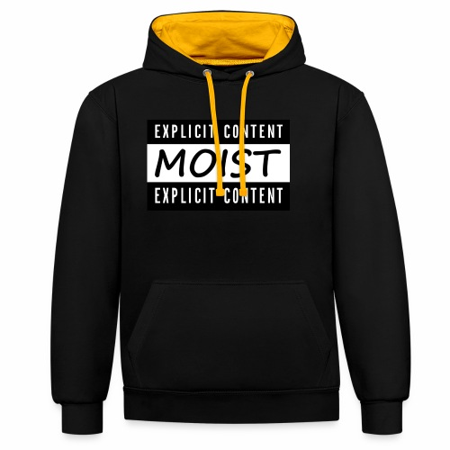 Moist2 - Contrast Colour Hoodie
