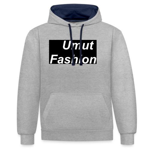 Umut Fashion - Kontrast-Hoodie
