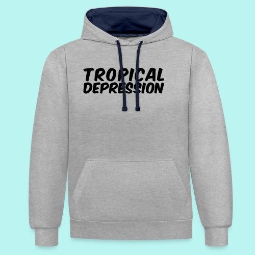 Tropical Depression - Kontrast-Hoodie