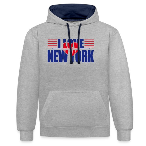 love new york - Sweat-shirt contraste