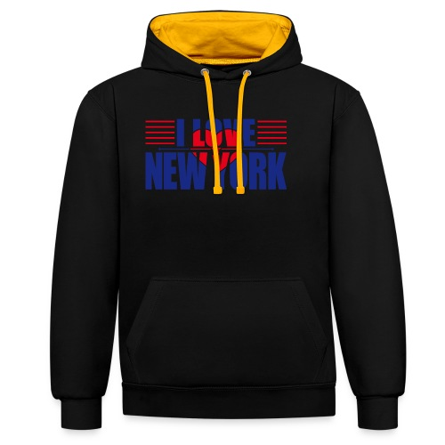 love new york - Sweat-shirt contraste