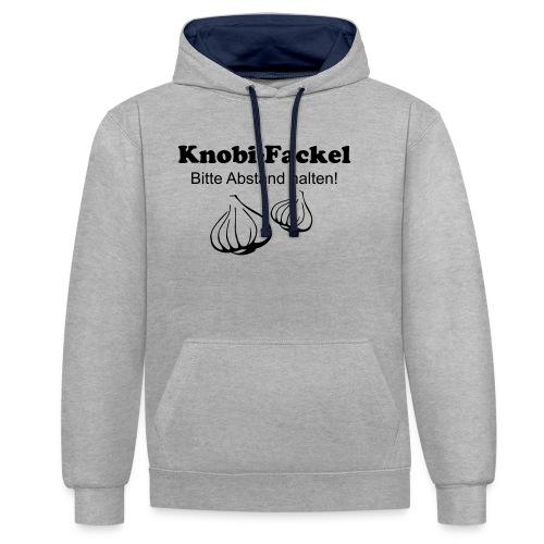 Knobifackel - Kontrast-Hoodie