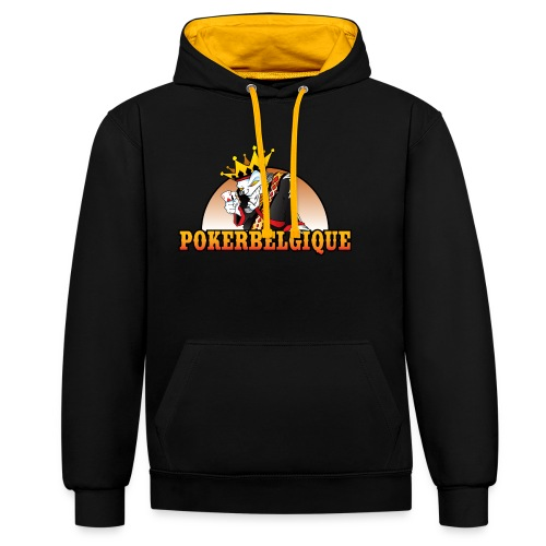 Logo Poker Belgique - Sweat-shirt contraste