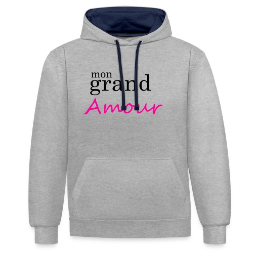 Mon grand amour - Sweat-shirt contraste
