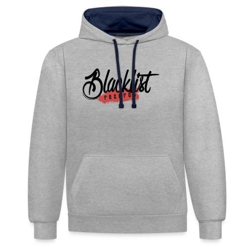 Blacklist Records - Casquette (Logo Noir) - Sweat-shirt contraste