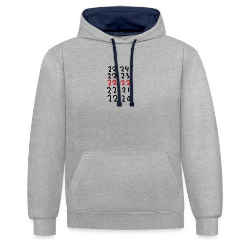 Wacht op de tijd - Contrast hoodie