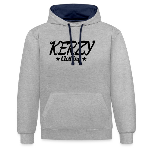 Official KerzyClothing T-Shirt Black Edition - Contrast Colour Hoodie