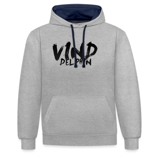 VindDelphin - Contrast Colour Hoodie
