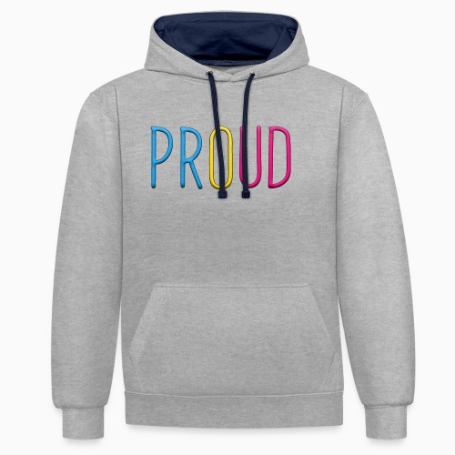 Proud Pansexual - Contrast Colour Hoodie