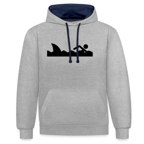 Haifischfutter - Kontrast-Hoodie