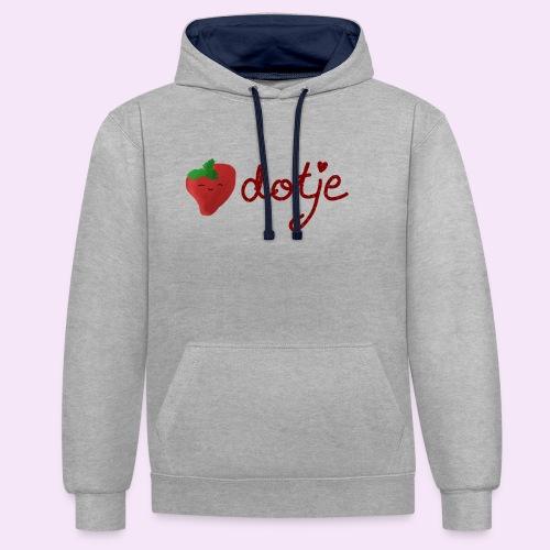 Baby aardbei Dotje - cute - Contrast hoodie