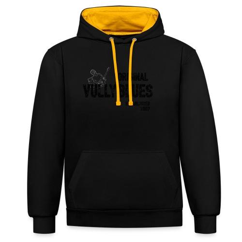 Original Vully Blues Black Logo - Kontrast-Hoodie