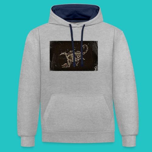 skorpion_grafika-jpg - Bluza z kapturem z kontrastowymi elementami