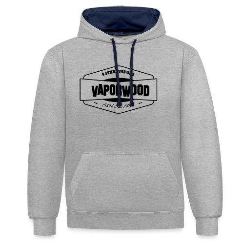 VaporwoodLogo - Kontrast-Hoodie