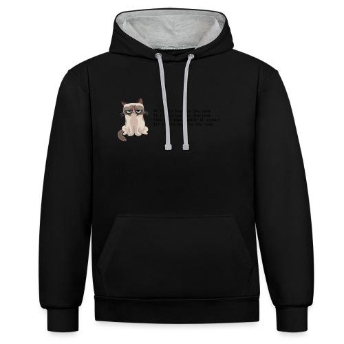 99 litle bugs of code - Contrast hoodie