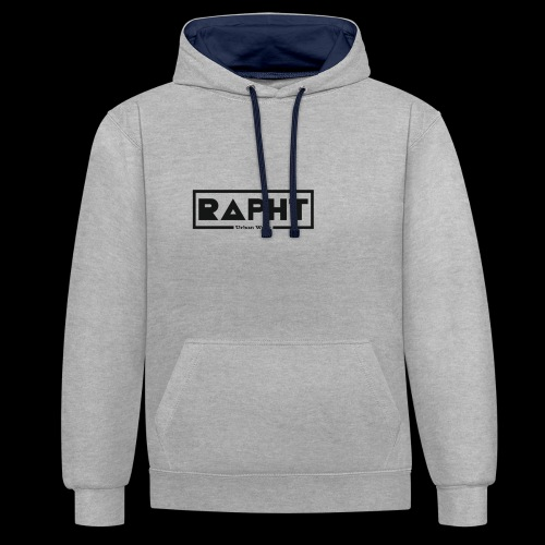 RAPHT long-sleeve simple - Contrast Colour Hoodie