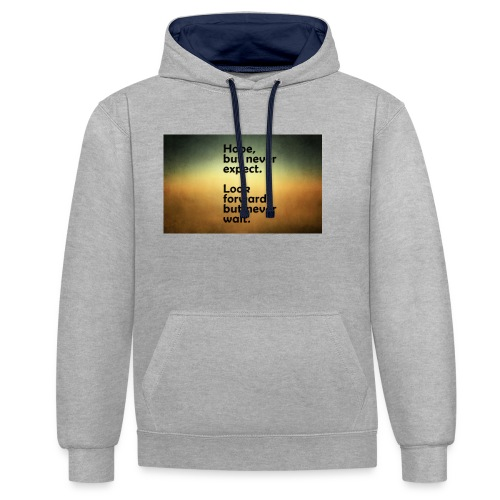 68655307 thoughts wallpapers - Contrast Colour Hoodie