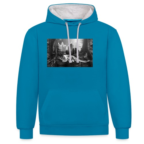 Fossa & Jungle - Contrast Colour Hoodie