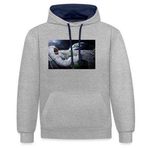 AstroBeer - Kontrast-Hoodie