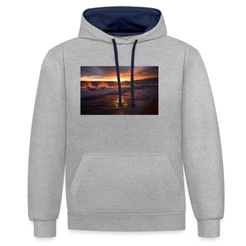 Magic sunset - Sudadera con capucha en contraste
