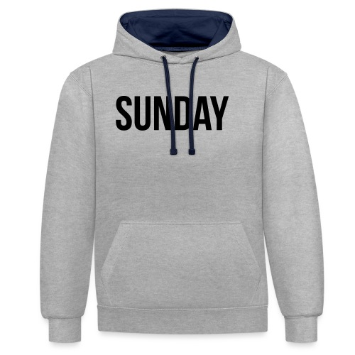 Sunday - Contrast Colour Hoodie