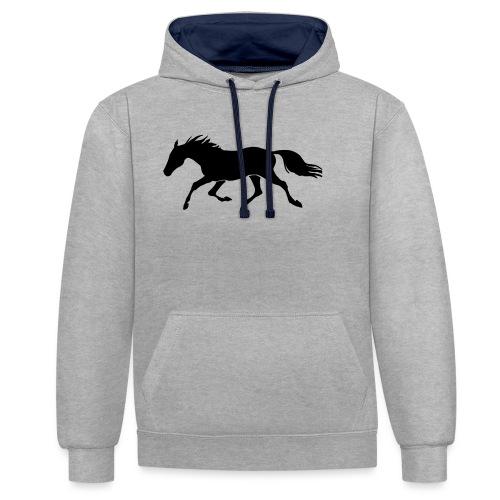 Cavallo - Felpa con cappuccio bicromatica