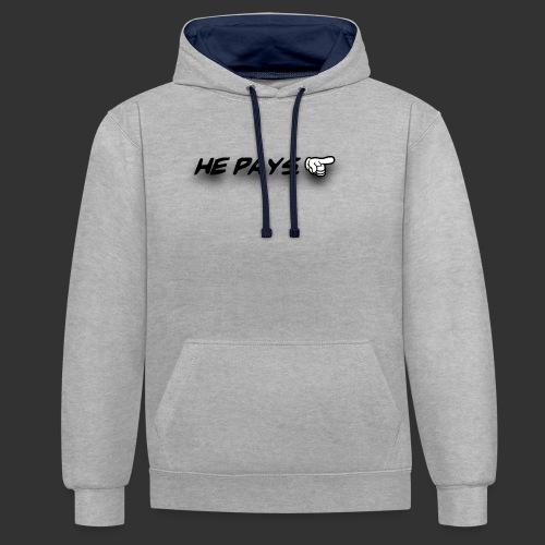 he pays - Contrast hoodie