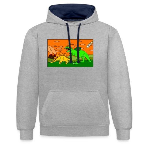 Schneckosaurier von dodocomics - Kontrast-Hoodie