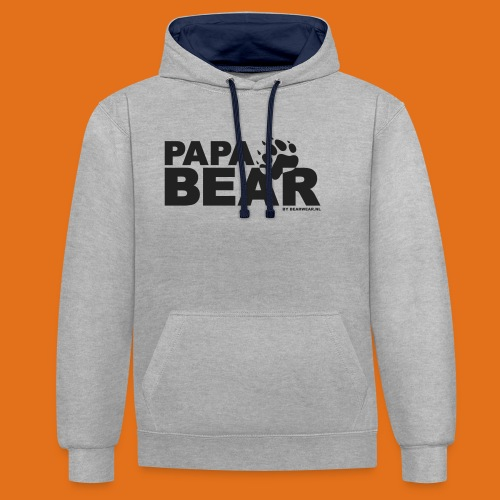 papa bear new - Contrast Colour Hoodie