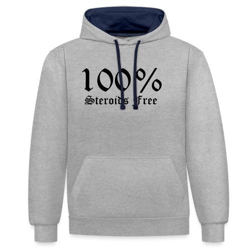 100% bez sterydów - Bluza z kapturem z kontrastowymi elementami