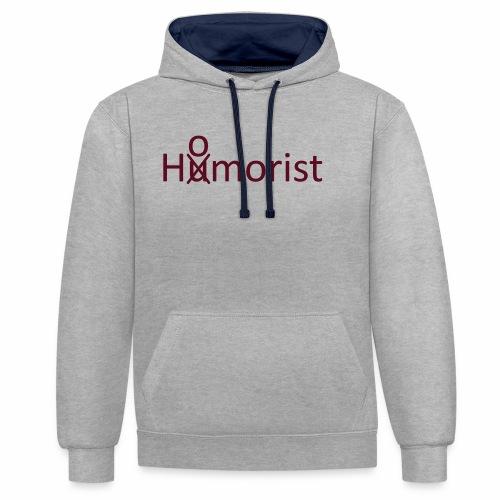 HuOmorist - Kontrast-Hoodie