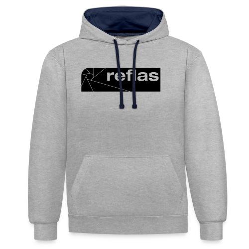 Reflas Clothing Black/Gray - Felpa con cappuccio bicromatica